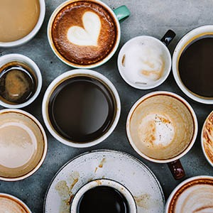 Collection of Coffees in Cups