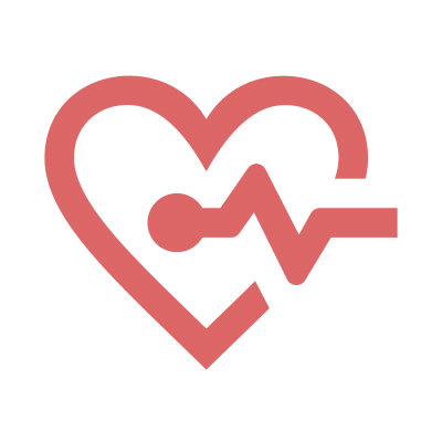 Heart icon with heartbeat line